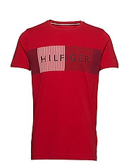 CORP MERGE TEE - HAUTE RED