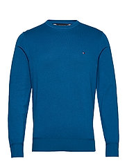 ORGANIC COTTON SILK CREW NECK - REGATTA BLUE HEATHER
