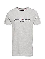TOMMY LOGO TEE - CLOUD HTR