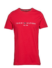 TOMMY LOGO TEE - HAUTE RED