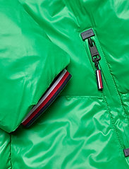 Tommy Hilfiger - SHINY HOODED BOMBER - padded jackets - jolly green - 7