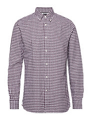 CLASSIC TEXTURED GINGHAM SHIRT - POTENT PURPLE / BRIGHT WHITE
