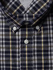 Tommy Hilfiger - HEATHER MULTI WINDOWPANE SHIRT - rutede skjorter - navy blazer / spectra yellow / - 2