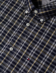Tommy Hilfiger - HEATHER MULTI WINDOWPANE SHIRT - rutede skjorter - navy blazer / spectra yellow / - 3