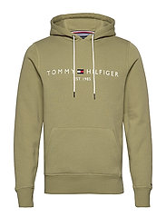 TOMMY LOGO HOODY - FADED OLIVE