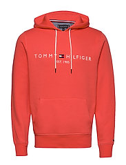 TOMMY LOGO HOODY - WASHED VERMILLION