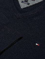 Tommy Hilfiger - PIMA COTTON CASHMERE - knitted v-necks - desert sky heather - 2