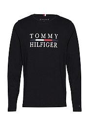 TOMMY HILFIGER LONG, - JET BLACK