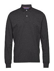 TOMMY REGULAR POLO LS - CHARCOAL HEATHER