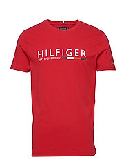 CORP HILFIGER STRIPE TEE - PRIMARY RED