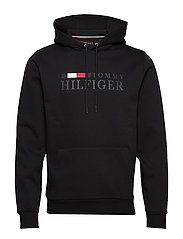 BASIC HILFIGER HOODY - BLACK