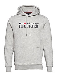 BASIC HILFIGER HOODY - CLOUD HEATHER