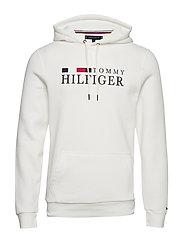 BASIC HILFIGER HOODY - ECRU