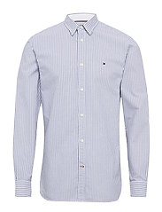 ORGANIC OXFORD STRIPE SHIRT - BLUE INK / MULTI