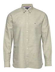 COTTON LINEN TWILL SHIRT - FADED OLIVE