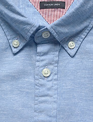 Tommy Hilfiger - SLIM COTTON LINEN SHIRT S/S - short-sleeved shirts - blue ink - 2