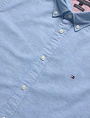 Tommy Hilfiger - SLIM COTTON LINEN SHIRT S/S - short-sleeved shirts - blue ink - 3