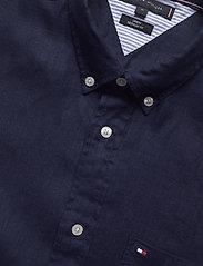 Tommy Hilfiger - LINEN SHIRT S/S - linen shirts - blue ink - 2