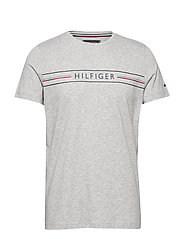 CORP HILFIGER TEE - MEDIUM GREY HEATHER
