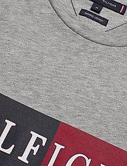 Tommy Hilfiger - BLOCK STRIPE HILFIGE - short-sleeved t-shirts - medium grey heather - 2