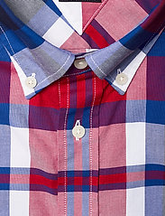 Tommy Hilfiger - FLEX BRIGHT MIDSCALE CHECK SHIRT - rutede skjorter - primary red / phthalo blue / m - 2