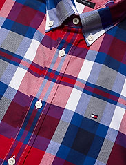 Tommy Hilfiger - FLEX BRIGHT MIDSCALE CHECK SHIRT - rutede skjorter - primary red / phthalo blue / m - 3