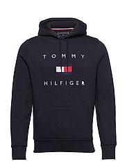 TOMMY FLAG HILFIGER HOODY - DESERT SKY