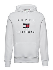 TOMMY FLAG HILFIGER HOODY - WHITE