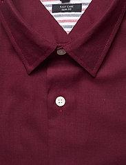 Tommy Hilfiger - SLIM FLEX HERRINGBONE SHIRT - casual shirts - deep burgundy heather - 2
