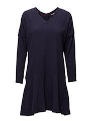 GRETA DRESS LS - BLUE
