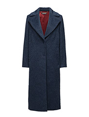 CHER WOOL COAT - BLUE