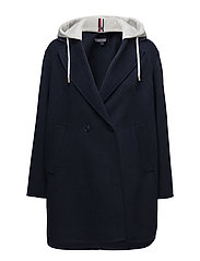 IVO DF HOODED WOOL B - PEACOAT