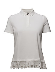 ABNER LACE POLO SS - CLASSIC WHITE