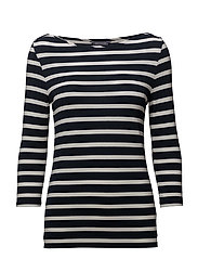 AUDREY BOAT NK TOP - MIDNIGHT / CLASSIC WHITE