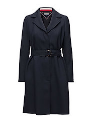 CARLY VISCOSE BLEND COAT - MIDNIGHT