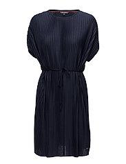 FIONA C-NK SHORT DRESS SS - MIDNIGHT