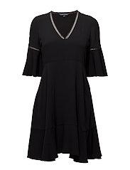 PEGGY DRESS SS - BLACK BEAUTY