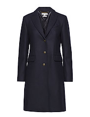BELLE CLASSIC WOOL COAT - MIDNIGHT