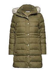 NEW TYRA DOWN COAT - OLIVE NIGHT