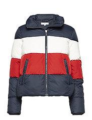 TYRA BOXY DOWN JKT - MIDNIGHT/ APPLE RED/ SNOW WHIT