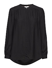 SYLVIA BLOUSE LS - BLACK BEAUTY