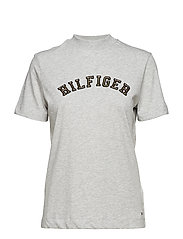 MIMI HIGH NK TEE SS - LIGHT GREY HTR