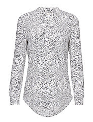 LUCIA SHIRT LS - SCATTER MINIMAL / SNOW WHITE