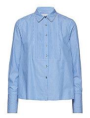 LULU SHIRT LS - BLUE / CLASSIC WHITE DOUBLE ST
