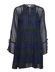 LUNA DRESS LS - ALLOVER STAR PRT / BLACK BEAUT