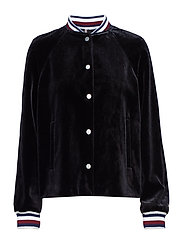 ICON VELVET BOMBER, - BLACK BEAUTY