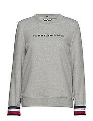 CORP HILFIGER C-NK SWEATSHIRT LS - LIGHT GREY HTR