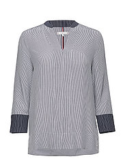 FLEUR BLOUSE 3/4 SLV - MIDNIGHT STRIPE / MULTI