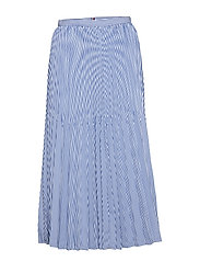 DAISY MIDI SKIRT - ITHACA PLEAT STP / DEEP ULTRAM