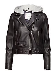 MONTANA HOODED LTR BIKER - BLACK BEAUTY